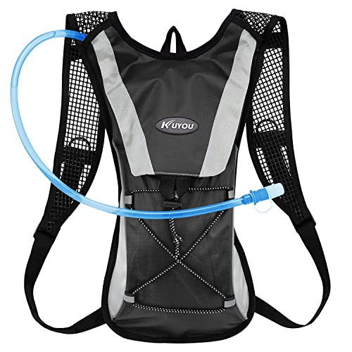 KUYOU Hydration Pack,Water Backpack with 2L Water Bladder Perfect for Running Cycling Hiking Climbing