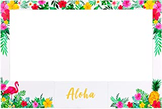 luck sea Large Size Luau Photo Booth Props Frame Party Supplies Decorations - for Hawaiian Tropical Tiki Birthday Baby Bri...