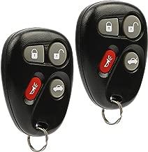Car Key Fob Keyless Entry Remote fits Chevy Corvette Malibu SSR/Pontiac Bonneville Grand Am/Buick Lesabre/Cadillac Deville Seville/Oldsmobile Alero Aurora (KOBLEAR1XT, 25695954), Set of 2