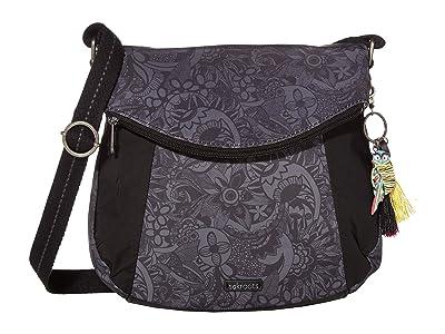 Sakroots Artist Circle Foldover Crossbody (Black Spirit Desert) Cross Body Handbags