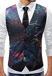 MU2M Men Business Suit Dress Vest Slim Fit Formal Wedding Party Waistcoat
