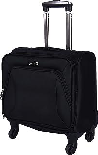 track Luggage Trolley Bag for Unisex - Black