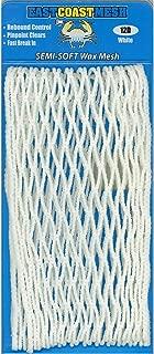 East Coast Dyes (1-Pack Lacrosse Mesh 12 Diamond Semi-Soft Wax Goalie Mesh Solid Color White 12D-Wht-1P
