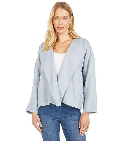 Eileen Fisher Petite Drape Front Jacket (Dawn) Women