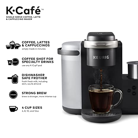 Buy Keurig K-Cafe Single Serve K-Cup Pod Coffee, Latte and Cappuccino, Dark  Charcoal Online at Low Prices in India - Amazon.in