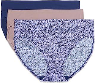 Warner's Women's Blissful Benefits Muffin Top Tailored Hi-Cut Panties Multipack