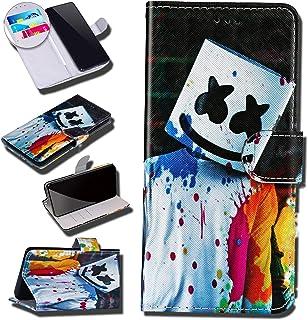 Urhause Case Compatibel met Galaxy A70 Case Glossy PU Lederen Portemonnee Cover met Kaartsleuven Cover Clown Cartoon Porte...