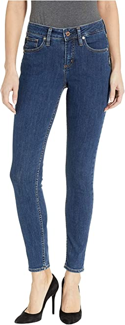 Avery High-Rise Curvy Fit Skinny Jeans in Indigo