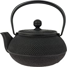 Dzbanek do herbaty Iwachu, żeliwny dzbanek do herbaty Arare 0,55 l czarny
