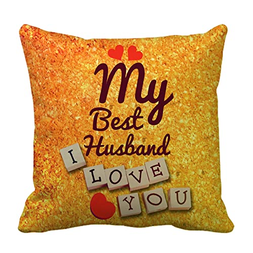 TIED RIBBONS Birthday Anniversary Karva Chauth Gift For Husband Printed Cushion 12 Inch X