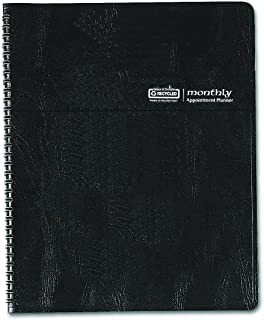 House of Doolittle Monthly Planner with Expense Log, 14 Months December 2014 to January 2015, 6 7/8 x 8 3/4 Inches, Black Leatherette Cover, Recycled (HOD26802)