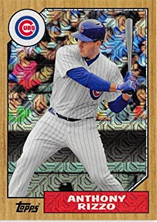 2017 Topps 87 Chrome Silver Promo Series 2 Refractors #87-ARI Anthony Rizzo Cubs MLB Baseball Card NM-MT