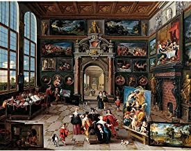Meishe Art Canvas Print Wall Art Giclee Oil Painting Reproduction Artwork Pictures Gallery of a Collector by Frans Francken