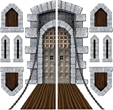 "Beistle Printed Castle Door and Window Props, 16"" to 5' 4"", 9 Pieces In Package"