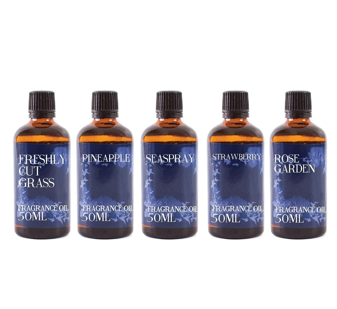 ボット夜間心配Mystic Moments | Gift Starter Pack of 5 x 50ml Summer Fragrant Oil