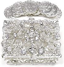 CB Accessories Wedding Unity Coins - Arras de Boda - Chest Box and Decorative Rhinestone Crystals Keepsake 76 (Silver)