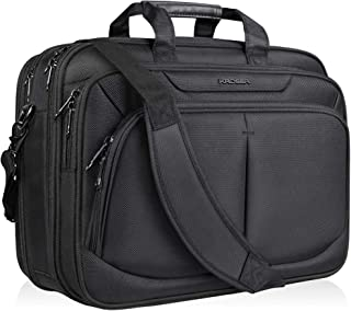 "KROSER 17.1"" Laptop Bag For 15.6""-17"" Laptop Briefcase Water-Repellent Expandable Computer Bag Business Messenger Bag Shoulder Bag for School/Travel/Women/Men"