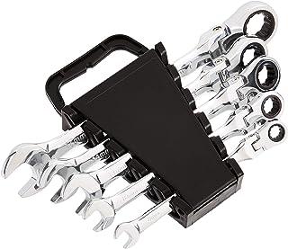 AmazonBasics Flexible Ratcheting Wrench Set - Metric, 5-Piece
