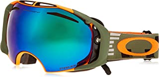 Oakley OO7037-20 Airbrake Eyewear, Disruptive Olive/Orange, Prizm Jade Iridium Lens