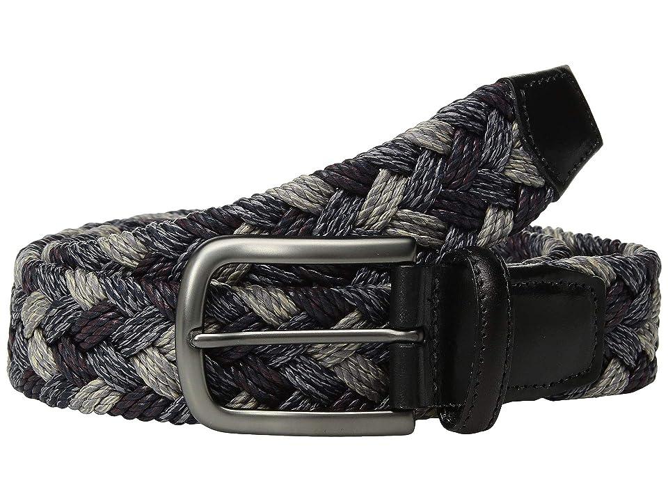 Torino Leather Co. 35 mm Italian Braided Cotton (Grey/Purple) Men
