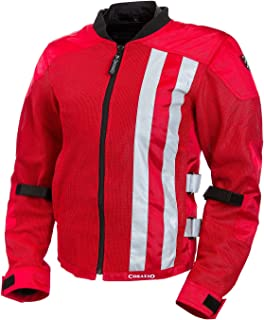 Corazzo Men's Ventata Mesh Jacket (Red, X-Large)