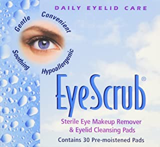 Eye Scrub Sterile Makeup Remover and Eyelid Cleansing Pads, 30 Count (Pack of 3)
