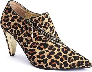 Lola Ramona: Ramona Leopard - Women's Leopard Print Heeled Bootie