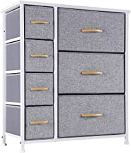 Kamiler 7 Drawers Dresser-Furniture Storage Unit,Bedroom Chest Organization-Closet for Clothes, Wood Top, Easy Pull Fabric...