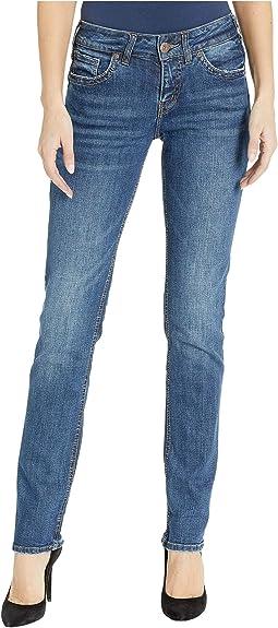 Suki Mid-Rise Perfectly Curvy Straight Leg Jeans in Indigo L93413SJL363