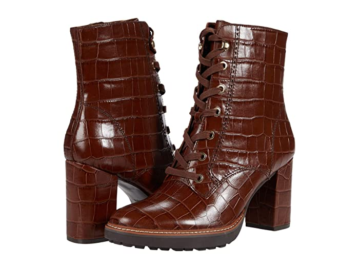 Vintage Boots, Retro Boots Naturalizer Callie Lodge Brown Croco Print Leather Womens Boots $170.99 AT vintagedancer.com