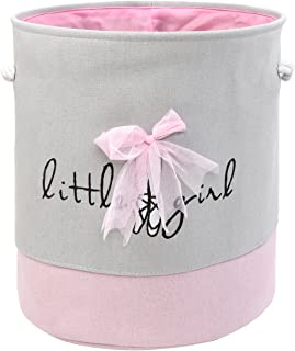 Toy Storage Organizer Bins,LIVEBOX Baby Laundry Basket,Gift Baskets Cotton Canvas with Handle for Kid's Room Baby Nursery Hamper Bins Boxes Dog