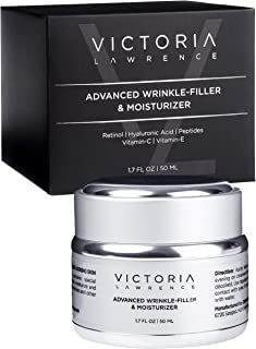 Wrinkle-Filler & Moisturizer Face Cream with Anti-Aging & Anti-Wrinkle Effect - Day & Night - with Retinol, Hyaluronic Aci...