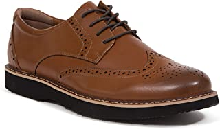 Deer Stags Walkmaster Men's Wing Tip 1 S.U.P.R.O. 2.0 Memory Foam 1 Leather Oxford