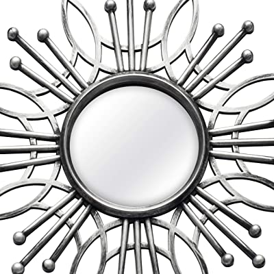 Amazon Com Stratton Home Decor Shd0257 5 Piece Burst Wall Mirror Silver 15 50 W X 0 79 D X 15 50 H Home Kitchen