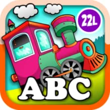 Top Kids eAnimal Train Preschool and Kindegarten Learning Matching and Reading Adventure - ABC First Word Educational Games for Toddler Loves Farm and Zoo Animals Colors Abby Monkey edition
