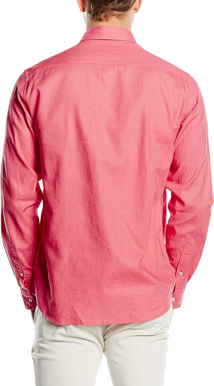 Cortefiel LISA LINO T-SOFT COLLAR - Camisa para hombre, color ...
