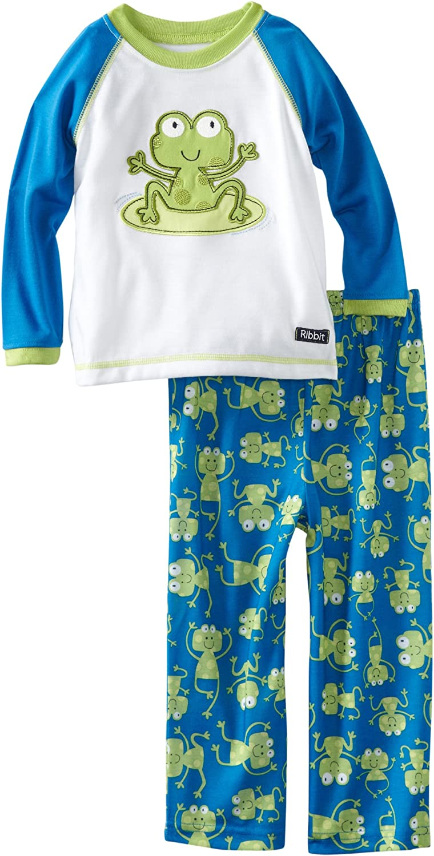 Little Me Baby Boys' Ribbit Pajama