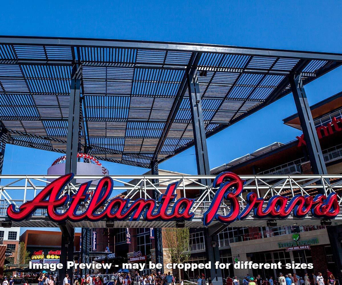 Atlanta Braves Max 74% OFF SunTrust Park MLB Ballpark Max 56% OFF P Photo Field Baseball