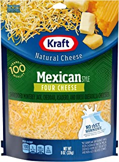 Kraft Natural Shredded Mexican Style Four Cheese (8 oz Bag)