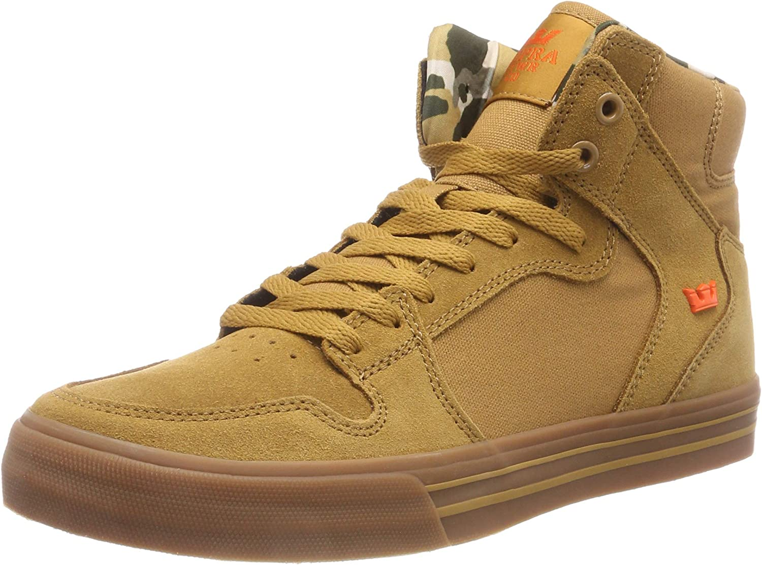 Supra Mens Vaider Tan Lt Gum shoes Size