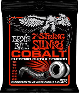 Ernie Ball Cobalt 7-String Skinny Top Heavy Bottom Slinky Set, .010 - .062