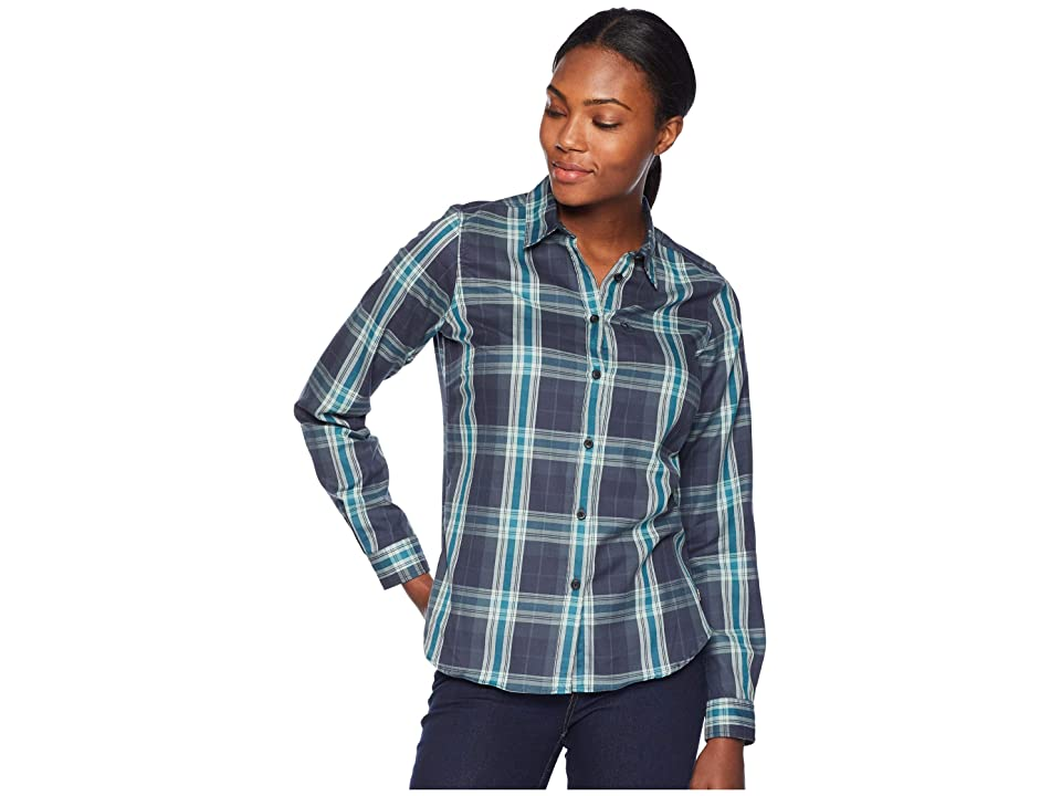 Fjallraven Ovik Flannel Shirt (Navy) Women