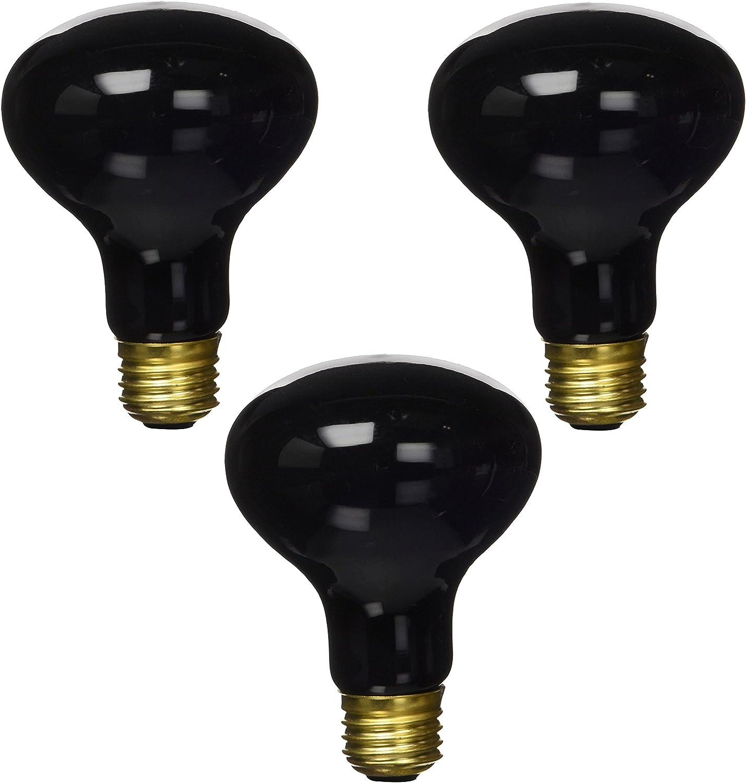 (3 Pack) Zilla Night Black Heat Incandescent Spot Bulb, 150Watt