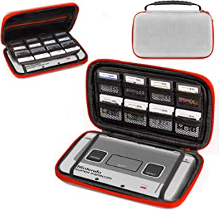 3DSXL Case, Orzly Carry Case for New 3DS XL or Original Nintendo 3DS XL - Protective Hard Shell Portable Travel Case Pouch for 3DS XL Consoles with Slots for Games & Zip Pocket- SNES Edition Color