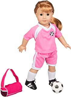 Dress Along Dolly Soccer Outfit for American Girl & 18