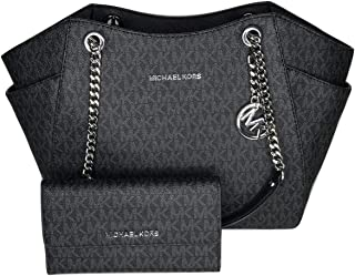 MICHAEL Michael Kors Jet Set Travel Large Chain Shoulder Tote bundled with Michael Kors Jet Set Travel Trifold Wallet