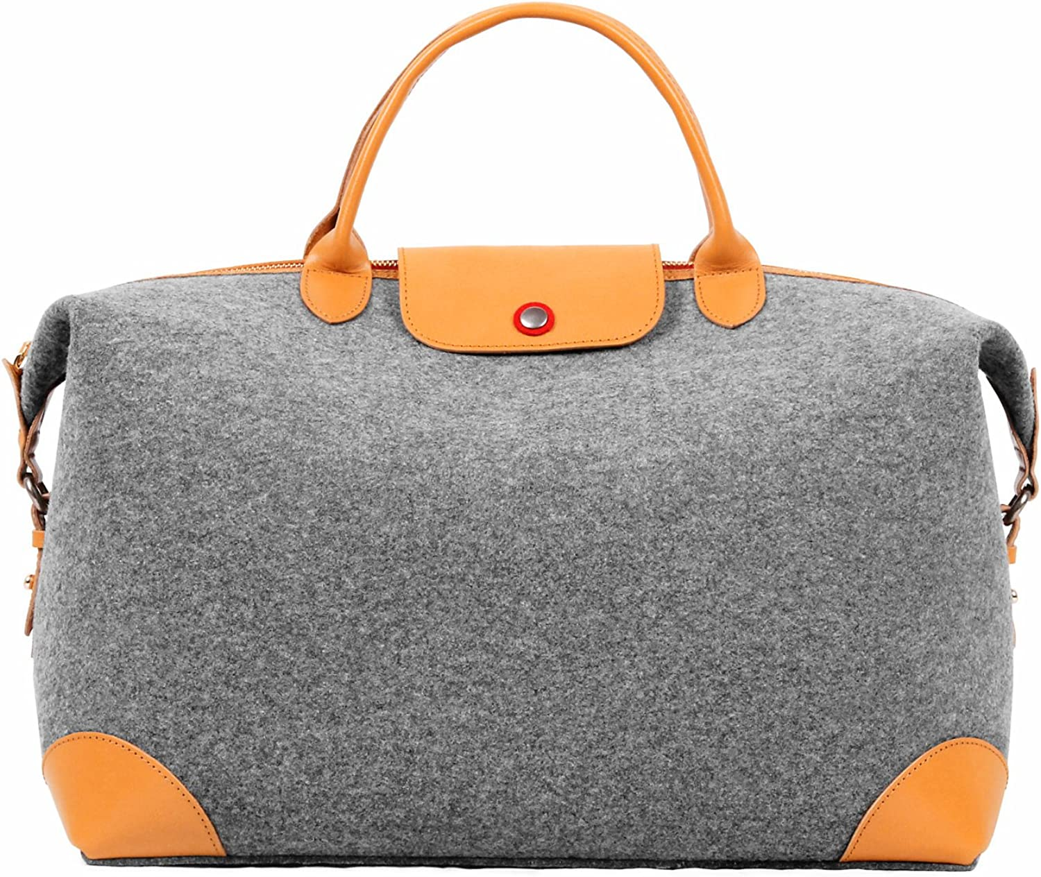 TOPHOME Wool Felt Work Tote Women's Large Handbag TopHandle for Ladies, Grey