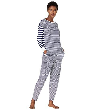 Vineyard Vines Mixed Striped Lounge Set (Deep Bay) Women