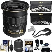 Nikon 12-24mm f/4 G DX AF-S ED-IF Zoom-Nikkor Lens with 3 UV/CPL/ND8 & 4 Macro Filters + Sling Strap Kit for D3200, D3300, D5300, D5500, D7200 Camera