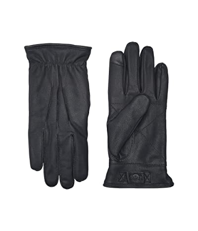 UGG 3 Point Leather Tech Gloves with Sherpa Lining (Navy) Extreme Cold Weather Gloves